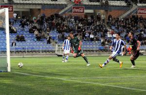 Caye Quintana, autor del gol ante el Tenerife. (Espínola)