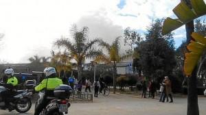 Parque Zafra incendio