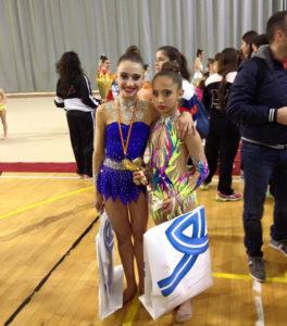 Sara y Leyla, gimnastas del Rítmico Colombino.