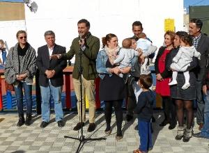 acto inaugural en el parque infantil la amistad