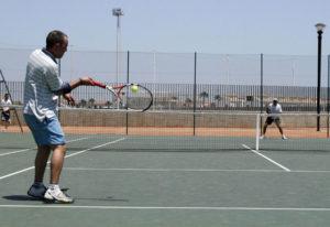 Liga de tenis en Cartaya.