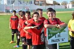 Torneo de fútbol 7 alevín en Palos de La Frontera.
