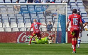 Rubén la paró el penalti a Pablo Infante. (Espínola)