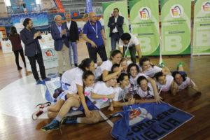 Jugadoras del CB Conquero junior, campeonas de Andalucía.