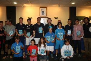 Entrega de trofeos del I Memorial de tenis José García Requena.