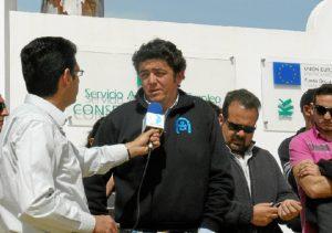 Isidro Medina, ejerciendo de portavoz de los proveedores de Formades.