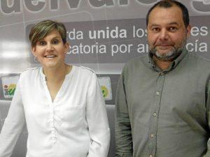 Noelia Mairena, candidata IU Bollullos, y Rafa Sanchez Rufo