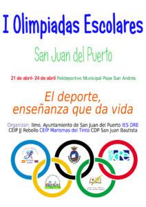 I Olimpiadas Escolares en  San Juan del Puerto.