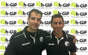 Javier Ollero y Ale Millán, jugadores del PAN Moguer.