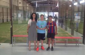 Torneo de pádel escolar en Ayamonte.