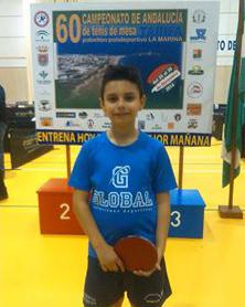 Ludovico Crespo, joven jugador ayamontino de tenis de mesa.
