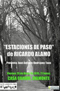 Cartel libro Ricardo Alamo
