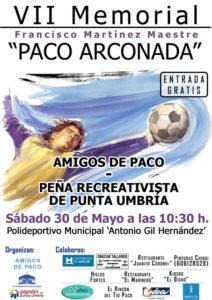 Cartel del Memorial Paco Arconada.