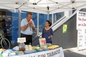 El concejal de Salud, Jose Manuel Raya ha realizado una de las pruebas en el stand
