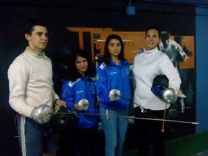 Tiradores del Club Esgrima de Huelva.