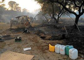 Dos heridos en un incendio en un asentamiento en Lucena