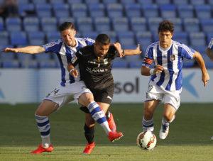 Antonio Domínguez y Jesús Vázquez peleando con Chuli. (J. Pérez)