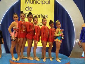 Jóvenes gimnastas del Club Rítmico Colombino.