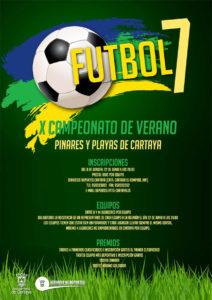 Cartel del Campeonato de Verano de fútbol 7 en Cartaya.