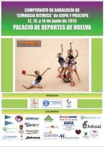 Cartel del Campeonato de Andalucía Copa y Precopa de gimnasia rítmica.