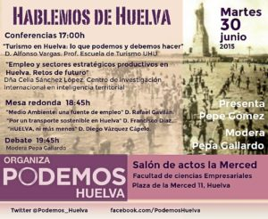 Cartel -Hablemos de Huelva-