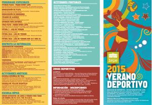 Programación de cursos y actividades deportivas en Lepe para este verano.