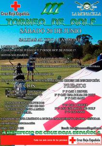 Cartel del III Torneo de Golf en La Monacilla.