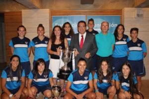 Fundación Cajasol, patrocinador del Sporting Huelva de fútbol femenino.