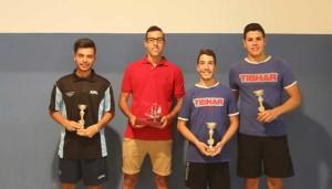 Premiados del CD Hispanidad de tenis de mesa.