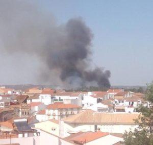 Incendio forestal Valverde