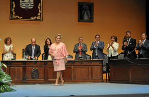 Antonia Grao el día que fue nombrada alcaldesa.