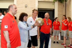 Recepción en la Diputación de Huelva a la Selección femenina baloncesto española.
