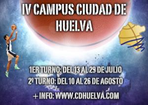 Cartel del Campus de baloncesto Ciudad de Huelva.