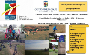 Cartel junior de golf.