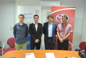 Convenio entre el Recreativo IES La Orden y Toyota Huelva.