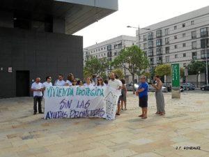protesta en huelva VPO 2