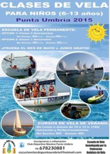 Cursos de vela del CDN de Punta Umbría.