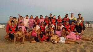 Torneo de rugby playa en Isla Cristina.