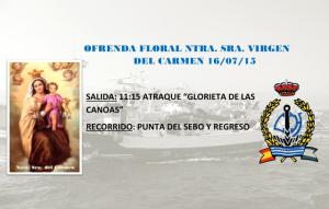 Ofrenda floral a la Virgen del Carmen del Real Club Marítimo de Huelva.