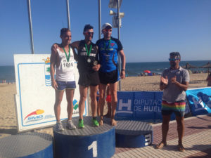 Ganadores de la III Milla Mojada en Isla Cristina.