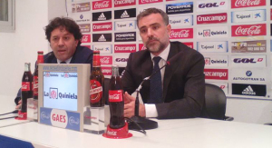 Sebastián Rivero, abogado del nuevo grupo inversor del Recreativo y Álvaro Roncal, nuevo consejero delegado del Decano.