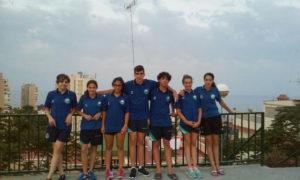 Equipo infantil del Club Natación Huelva.