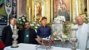 Ofrenda floral a la Virgen de la Cinta.