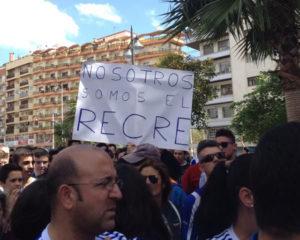 Manifestación del Recreativo Supporters Trust.