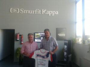Convenio de colaboración del CD La Palma FS con Smurfit Kappa.
