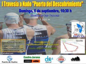 Cartel de la I Travesía a nado 'Puerto del Descubrimiento'.