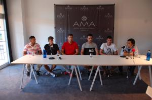 Presentación de cinco nuevos jugadores del San Roque de Lepe.