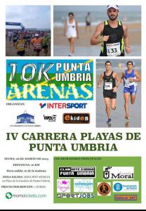 Cartel de la IV Carrera por la playa de Punta Umbría.