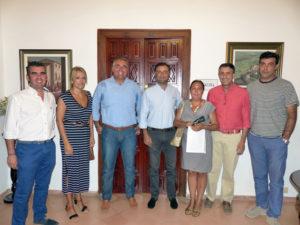 Directiva del PAN y representantes  municipales del Ayuntamiento de Moguer.