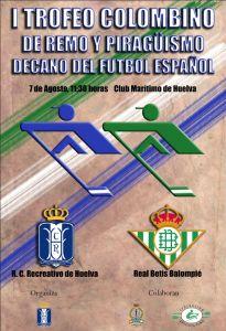 Cartel del I Torneo de piragua y remo Decano del fútbol español.